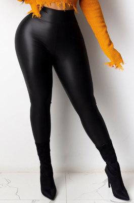 Tight High Waist Polyester Calender Pants YF8771