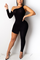 Sexy Off Shoulder Asymmertrical Neck Bodycon Jumpsuit SH7131