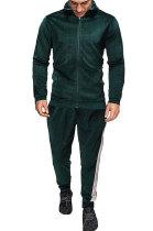 Man Outdoor Sport Swear Soft Casual Sets Fashion Zipper Cardigan Coat FT01