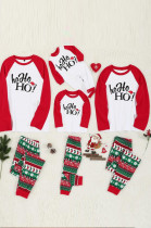 Family suit Christmas hat printed family dress