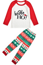 Hot Style New Autumn Winter Santa Hat Print Home Family Suits