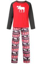 Christmas Moose Print Family Pajamas