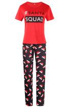 Santa Hat Short-Sleeved Pajamas For Kids
