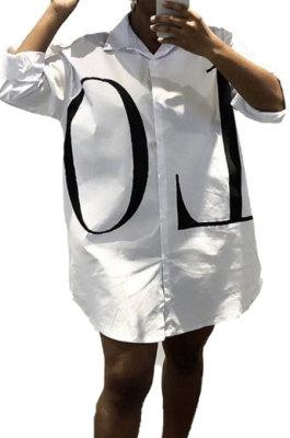 Fashion Casual Joket Loose Single-Breasted Leeter Shirt BLK0312