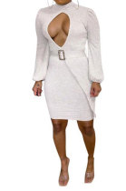 Womenswear Casual Fashion Knitting Dress Contain The Belt MF6604