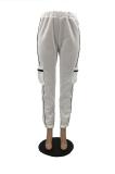 Street Style Loose type Sporty Spliced Mid Waist Long Pants OX3525
