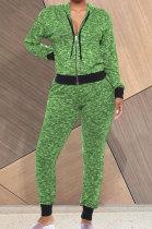 Streets Trendsetter Womenswear Fashion Casual Long Sleeve Zipper Sets AYS0041