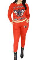 Fashion Butterfly Pattern Casual Fleece Women Two-Piece TL6484