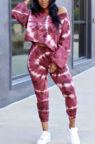 Sexy Long Sleeve Printing Tie Dye Two-Piece TL6508