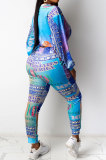 Casual Fashion Usd Positioning Printing Long Sleeve Long Pants Two-Piece SDD9344