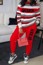 Womenswear Stripe Printing Fashion Casual Two-Piece BLE2230