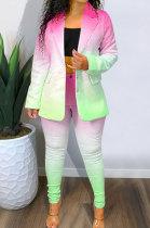 Women Suit Positioning Printed Gradient Sets NK203