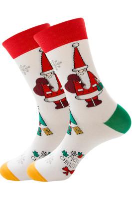 Men's Socks Santa Claus Elk Men's Middle Stockings Tidal Cotton Socks ZQ2019-06