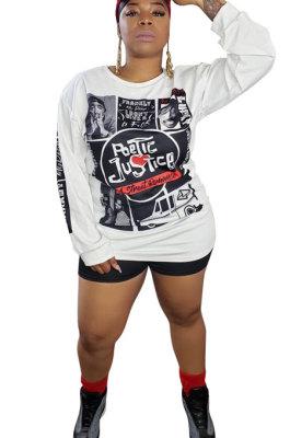 Big Size Long Sleeve Round Neck Casual Womenswear YF1412