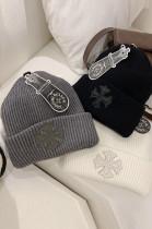 Cross Preppy Style Fashion Versatile Warm Woollen Hat Woman MP027