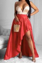 Fashion Sexy Pure Color Irregular High Split Skirts ZNN8350