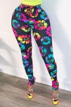 Sexy Tight Printing High Waist Casual Pants ZNN8263