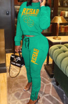 Sport Casual Fashion Fleece Long Sleeve Printing Two-Piece YMM9040