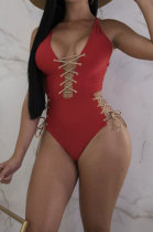 Sexy Bind Pure Color Multi-Way One Piece Swimsuits BN9079