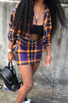Fashion Casual Sets Long Sleeve Cardigan Short Skirt Two-Piece D68200