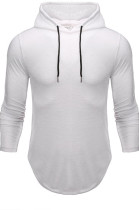 White Men Autumn And Winter Prue Color Casual Hooded CMM14