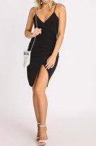 Black Gallus Cultivate One's Morality Sexy Spring Summer Womenswear Mini Dress WMZ6233