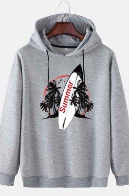 GrayMen's Autumn And Winter Casual Summer Surfboard Hooded CMM115