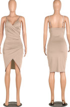 Apricot Gallus Cultivate One's Morality Sexy Spring Summer Womenswear Mini Dress WMZ6233