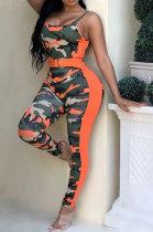 Sexy Womenswear Gallus Low Bosom Camo Bodycon Jumpsuits ORY5049