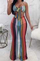 Trendy Bind Printing Sexy Two Pieces Swimsuits LD8044