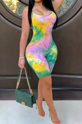 Sexy Colorful Print Sling Jumpsuits JH165