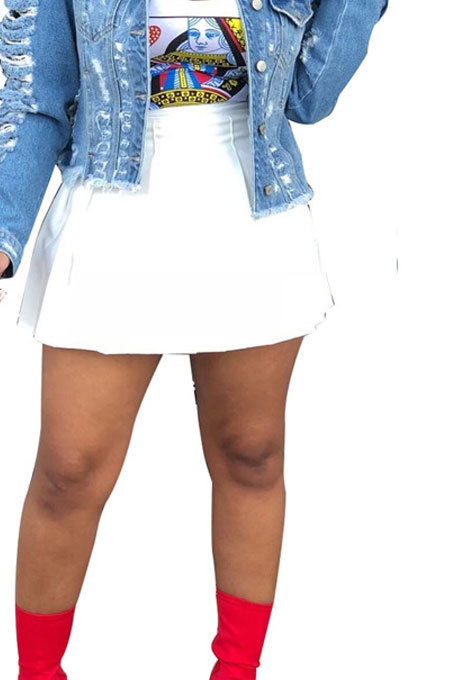 Trendy Sexy Pleated Skirt KZ006