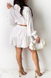 Elegant Fashion V Neck Casual The Skirt Suit BM7149