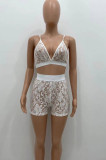 Fashion Sexy Lace Short Sleeve Short Pants Two-Piece YX9272