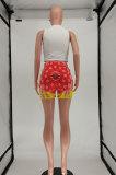 Fashion Casual Sleeveless Positioning Printing Shorts Sets SMY8073