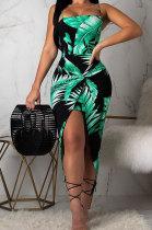 Fashion Womne Digital Printing Mini Dress YSH6048
