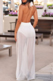 Bind Backless Hang A Neck Net Yarn Long Dress CYY8080