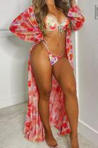 Bikini Beach Bind Casual Swinsuits Three Piece F8342