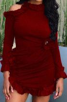 Seyx Fashion Hole Agaric Edge Mini Dress BS1257