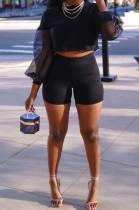 Fashion Casual Net Yarn Sunshade Sleeve Two-Piece BS1258