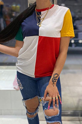 Trendy Casual Color Women Short Sleeves T Shirts GLS8099
