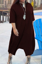 Casual Loose Pure Color Personality Jumpsuits HG101