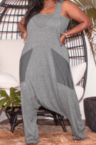 Sexy Pure Color Sling Chest Wrap Baggy Pants Two-Piece HG103