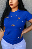Fashion Casual Tops with Butterfly E8291