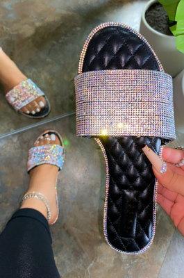 Fashion Sexy Crystal Beach Heel Women's Shoes XK8066
