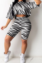 Fashion Sexy Casual Round Neck Sport Shorts Sets GHH003