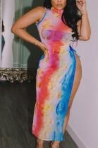 Night Club Sexy Net Yarn Pesspective Long Dress LML207