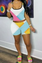 Euramerican Women Fashion Printing Casual Shorts Sets LW8812