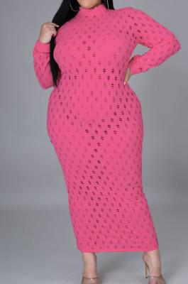 Euramerican Hollow Out Stretch Long Dress QZ5278