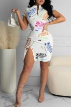 Fashion Sexy Digital Printing Dresses MK019
